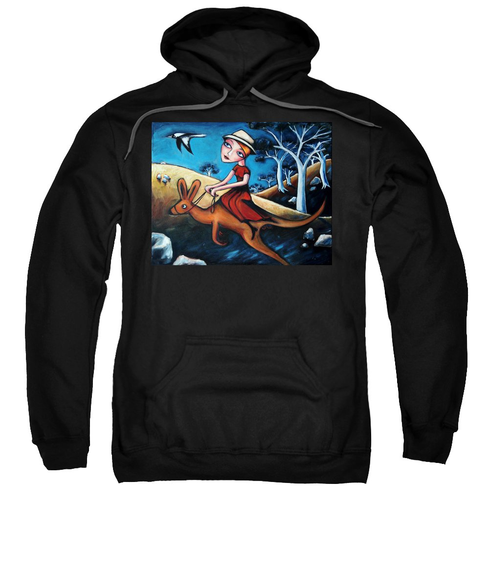 Woman Sweatshirt featuring the painting The Journey Woman by Leanne Wilkes