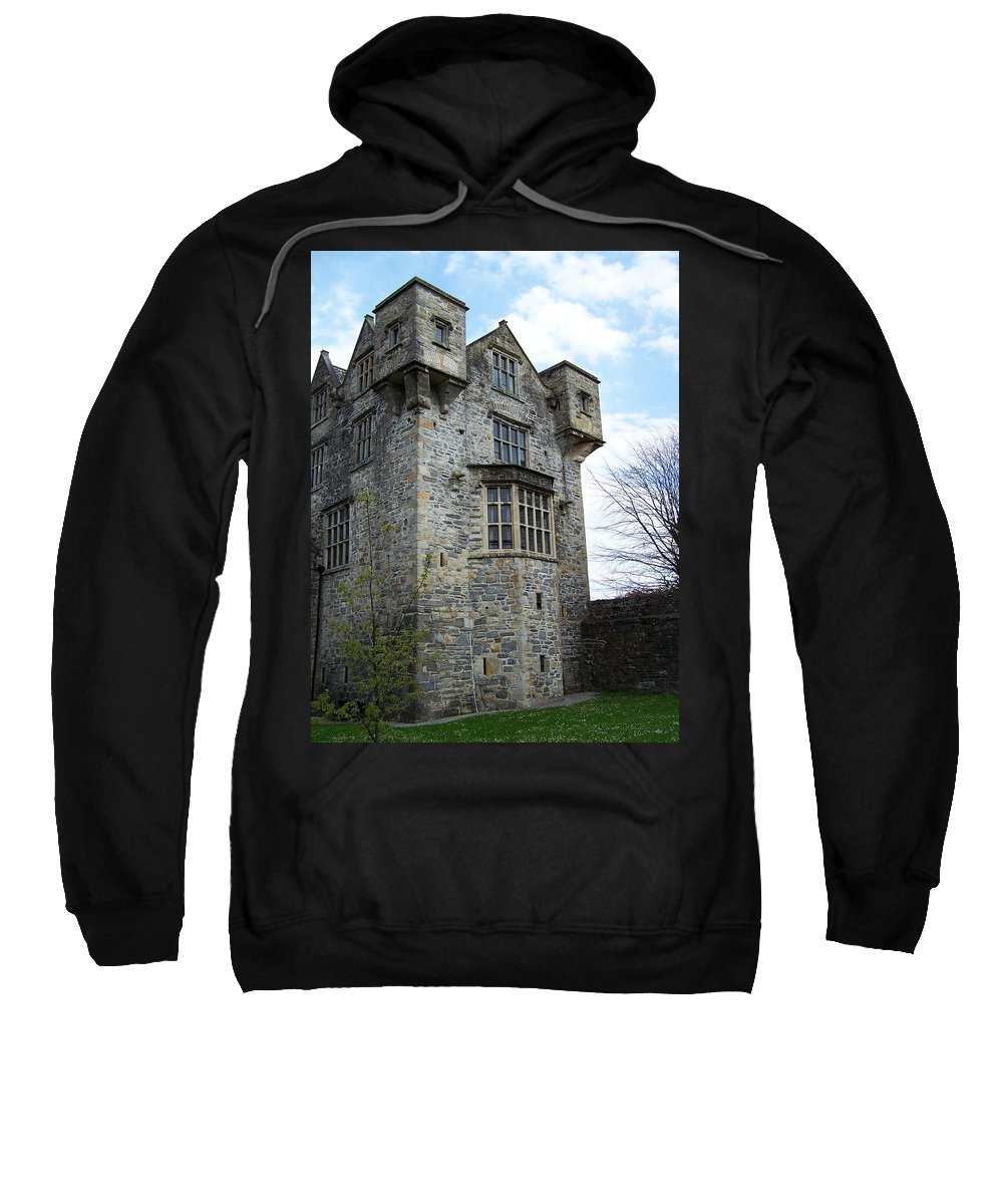 Ireland Sweatshirt featuring the photograph The Keep At Donegal Castle Ireland by Teresa Mucha