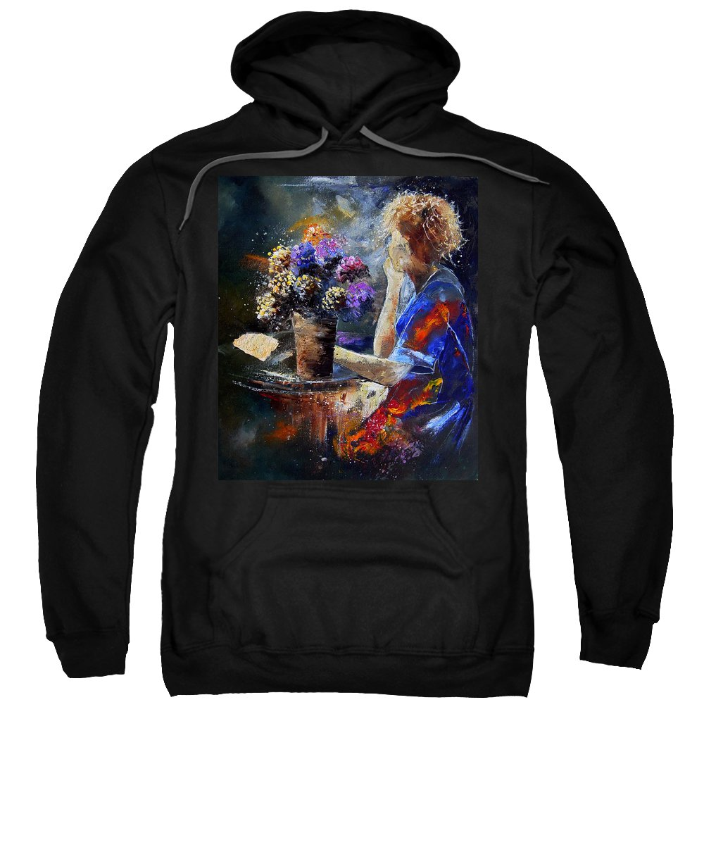 Girl Nude Sweatshirt featuring the painting The Letter by Pol Ledent