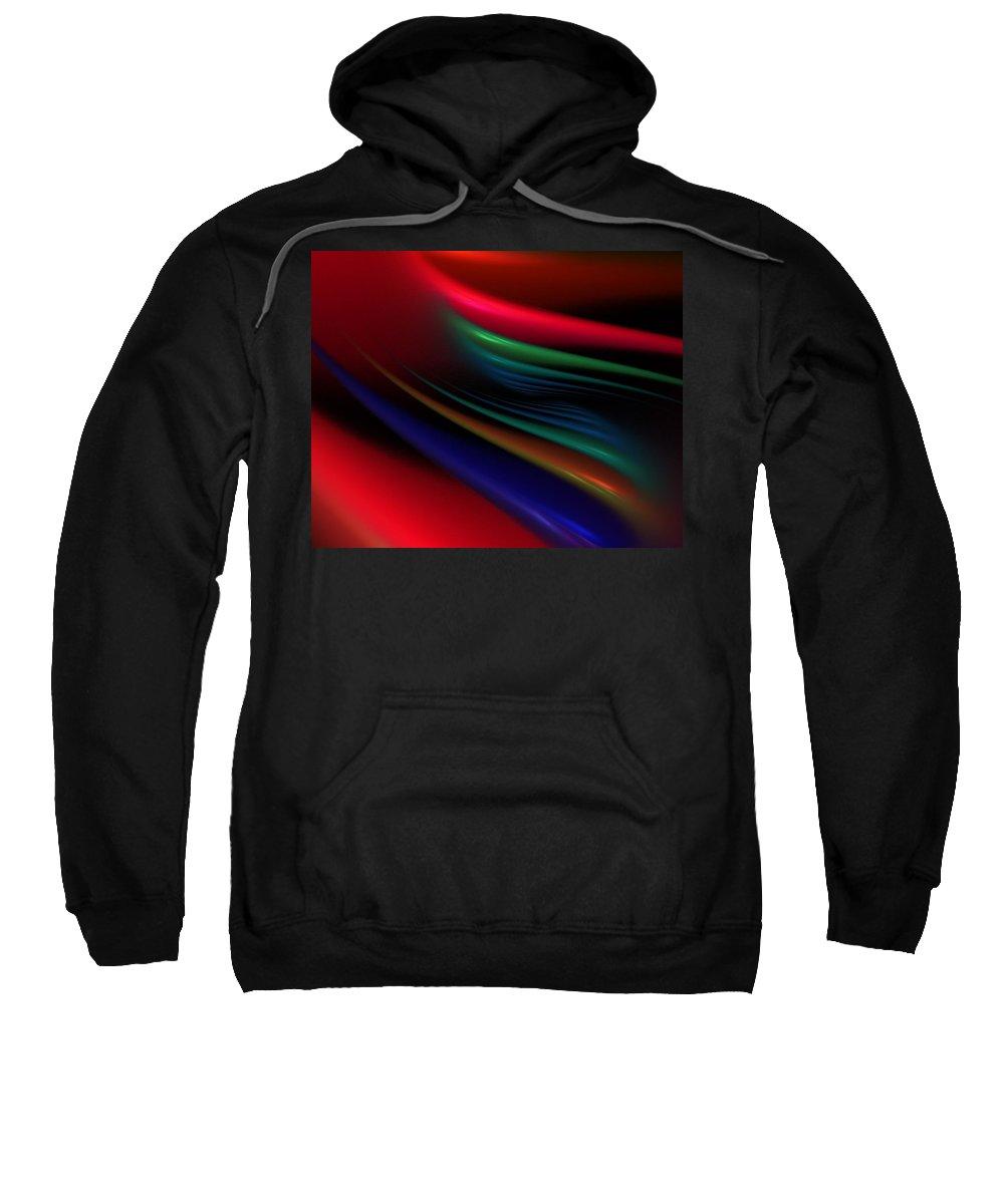 Digital Painting Sweatshirt featuring the digital art The Light Fantastic by David Lane