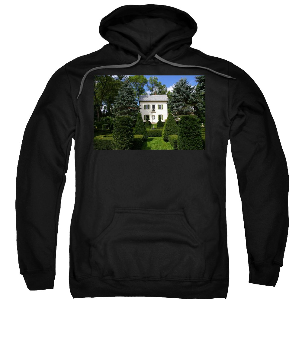House Sweatshirt featuring the photograph The Little White House by Tom Reynen