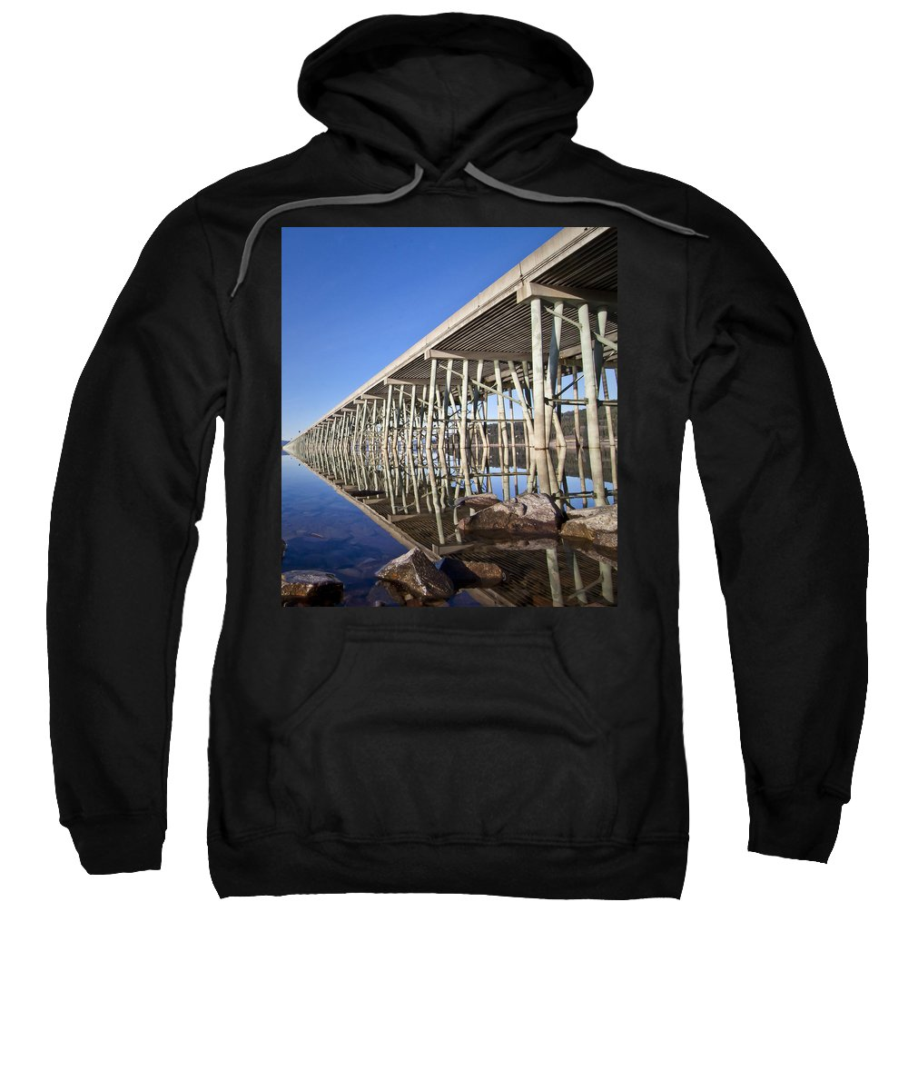 Bridge Sweatshirt featuring the photograph The Long Bridge by Albert Seger
