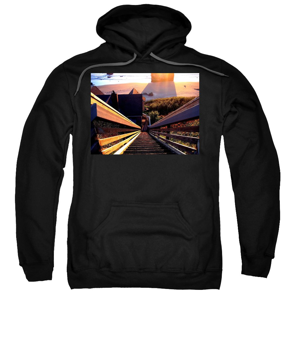Stairway Sweatshirt featuring the photograph The Long Long Stairway  by Will Borden