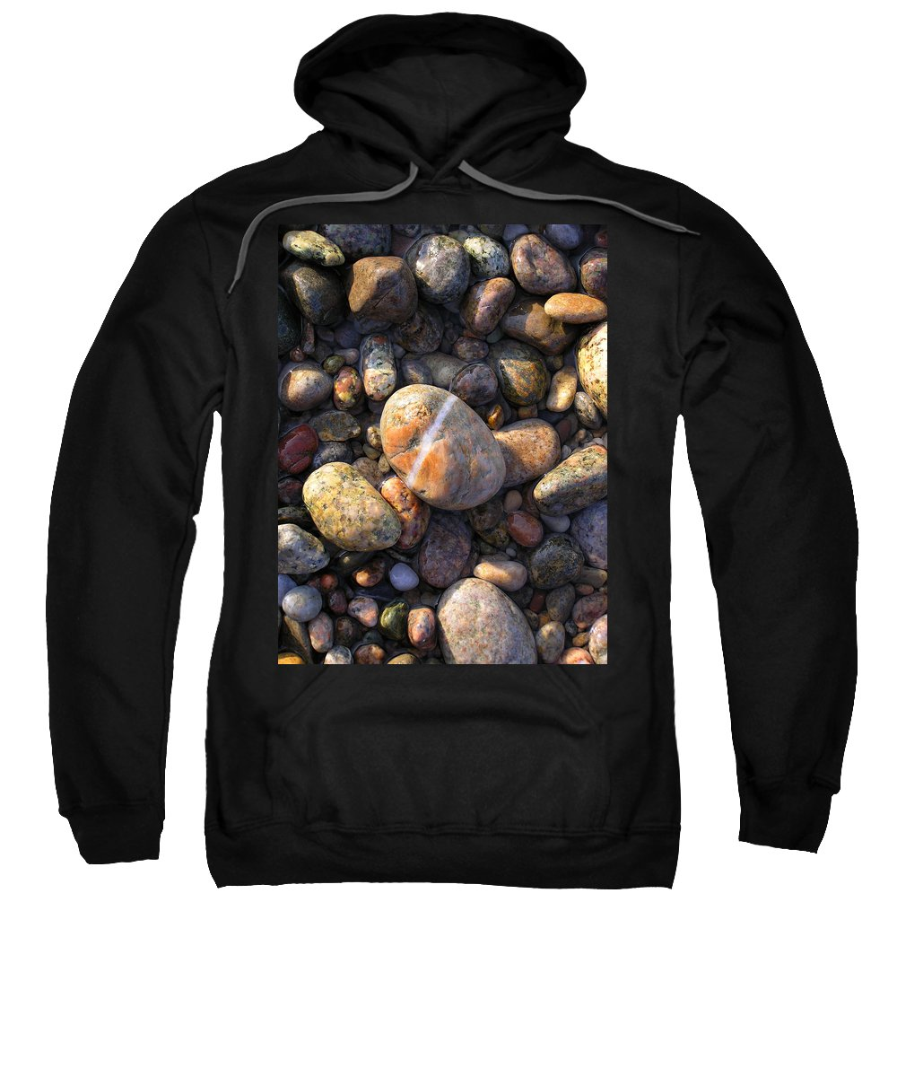 Rock Sweatshirt featuring the photograph The Lucky Rock by Charles Harden