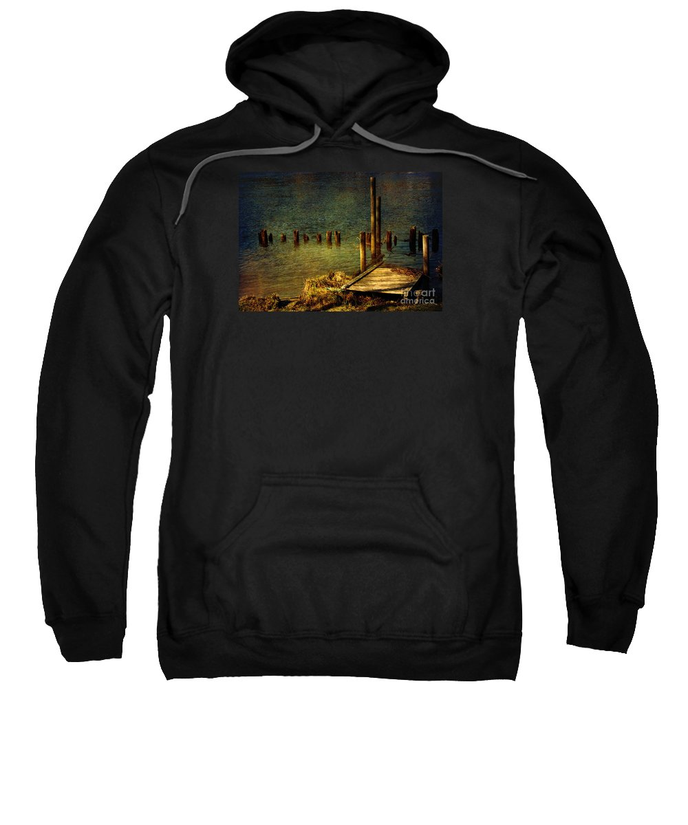 Festblues Sweatshirt featuring the photograph The Magic Hour.. by Nina Stavlund