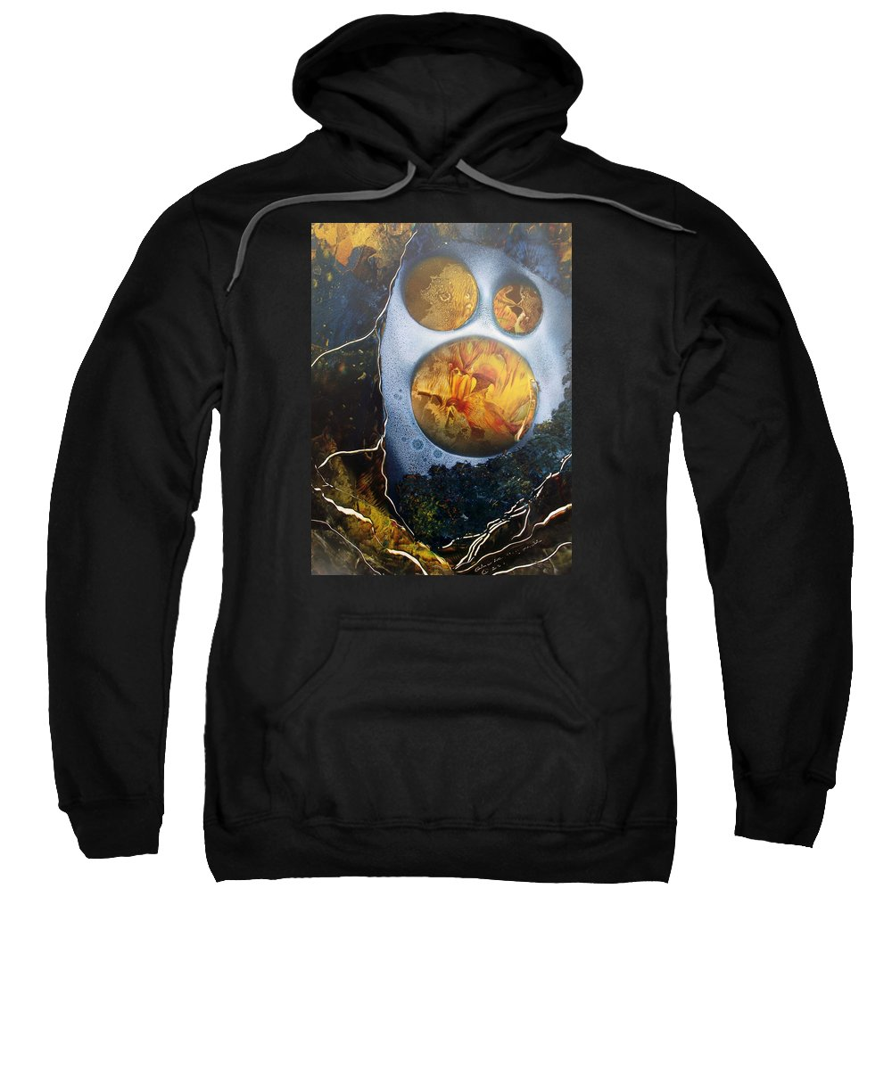 Moonman Sweatshirt featuring the painting The Man In The Moon by Arlene Wright-Correll