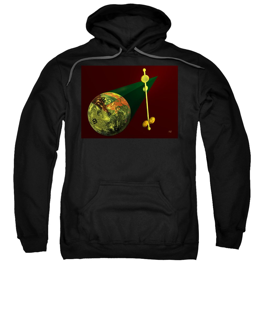 Earth Sweatshirt featuring the digital art The Metronome by Helmut Rottler