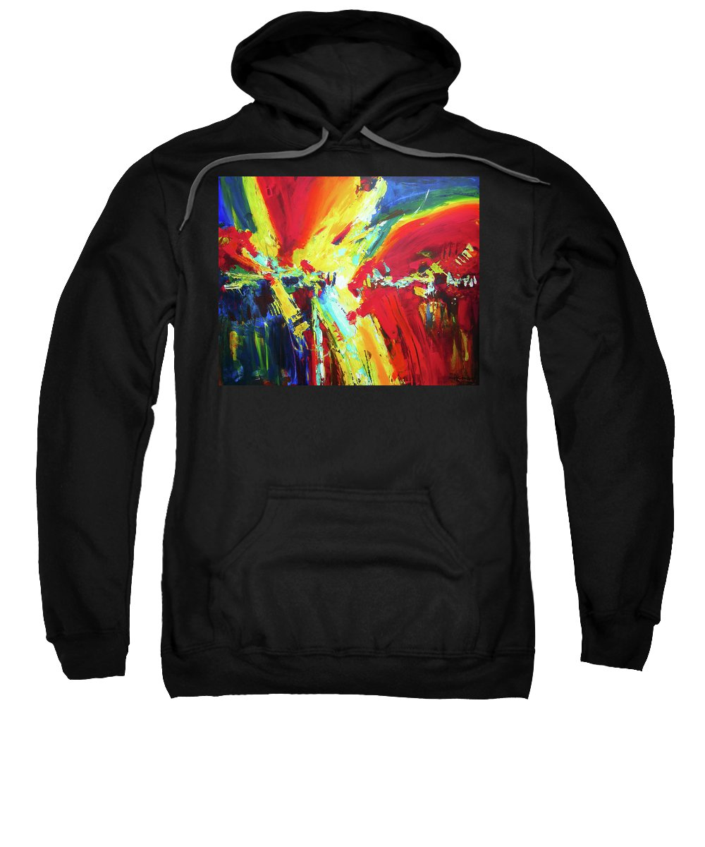 Abstract Sweatshirt featuring the painting The Moment by Joseph Catanzaro