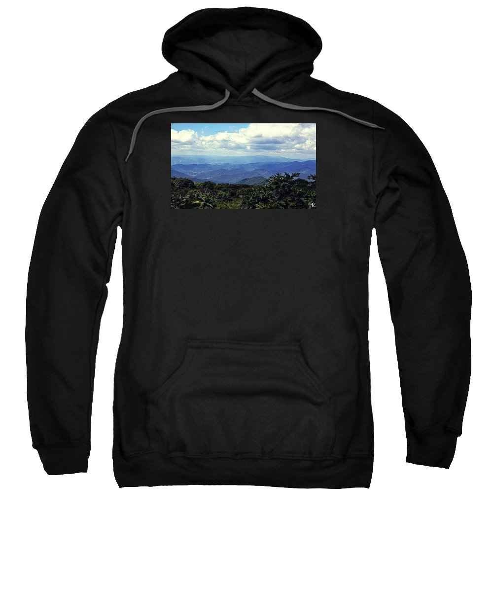 Landscape Sweatshirt featuring the photograph The Mountains Are Calling by Abigail Eremic