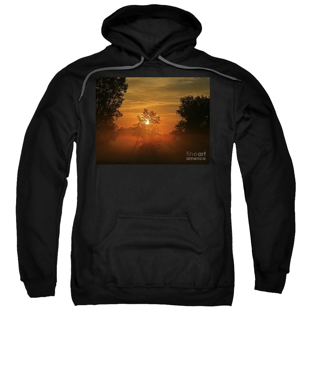 Sun Sweatshirt featuring the photograph The Mourning Mist by Robert Pearson