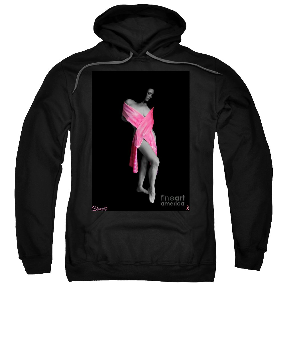 Breast Cancer Sweatshirt featuring the photograph The Naked Truth It Can Happen To You Too by September Stone