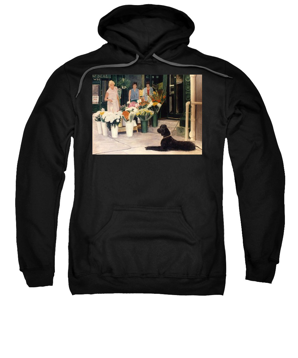 Mums Sweatshirt featuring the painting The New Deal by Steve Karol
