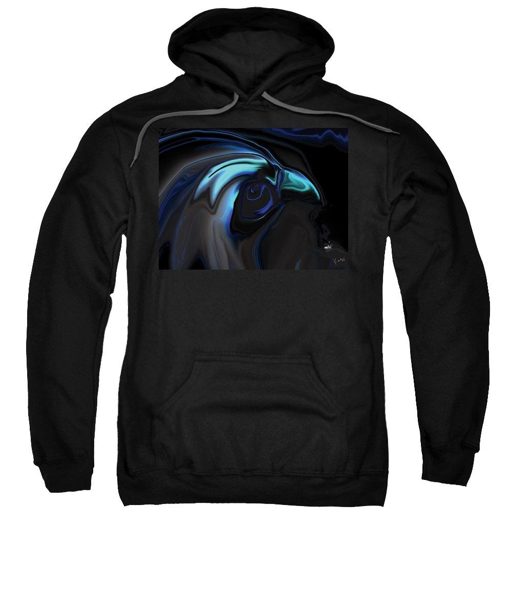Birds Of Prey Sweatshirt featuring the digital art The Nighthawk by Rabi Khan