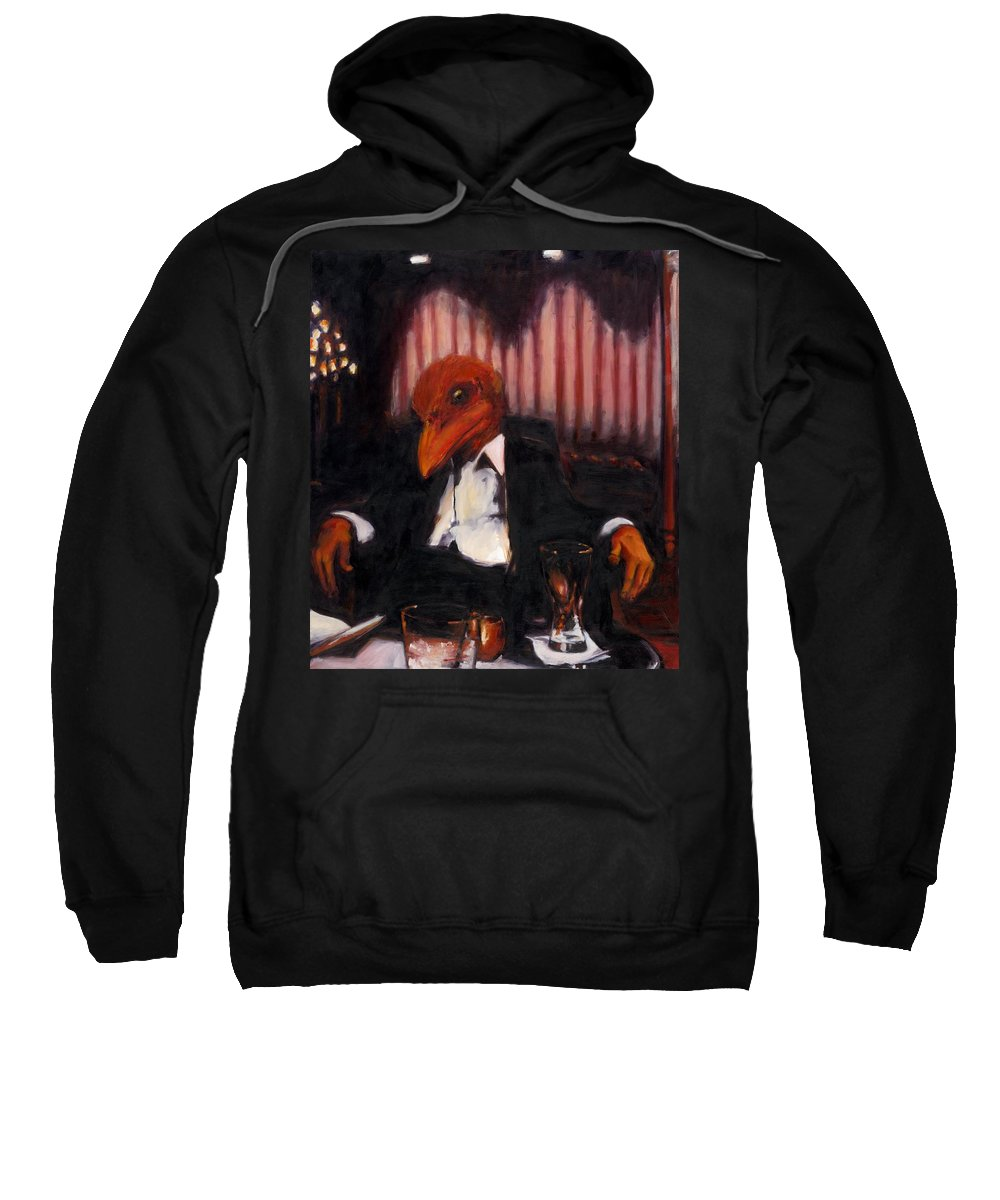 Rob Reeves Sweatshirt featuring the painting The Numbers Man by Robert Reeves