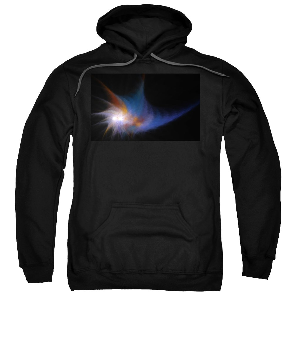 99 Sweatshirt featuring the digital art The Old 99 In Llandegla by Brainwave Pictures