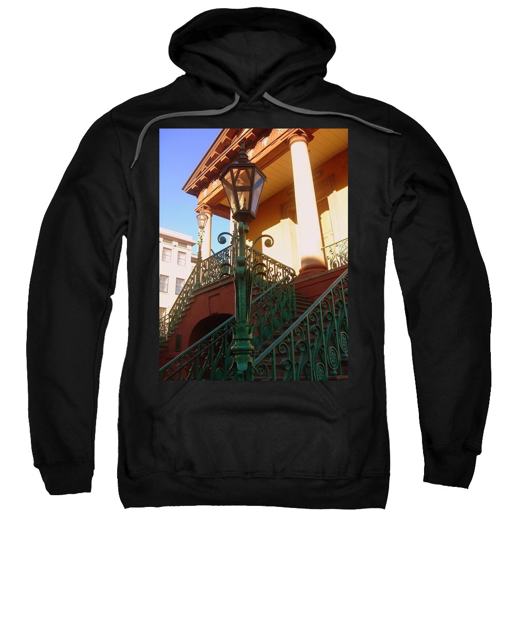 Photography Sweatshirt featuring the photograph The Old City Market In Charleston Sc by Susanne Van Hulst