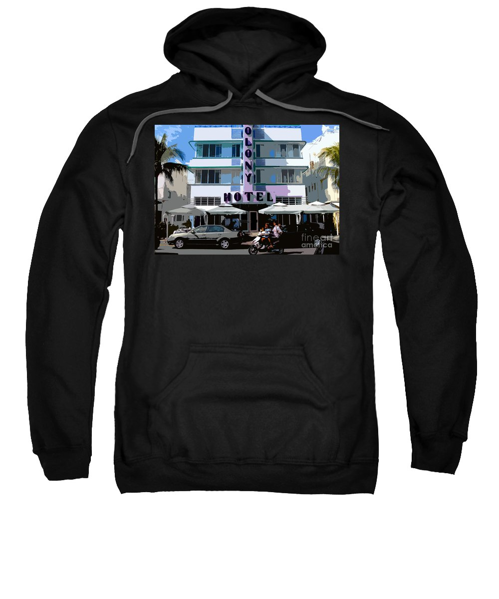 Hotel Sweatshirt featuring the photograph The Old Colony Hotel by David Lee Thompson