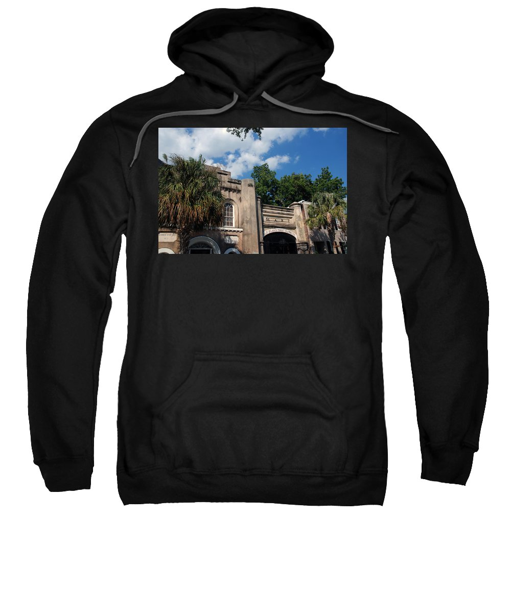 Photography Sweatshirt featuring the photograph The Old Slave Market Museum In Charleston by Susanne Van Hulst