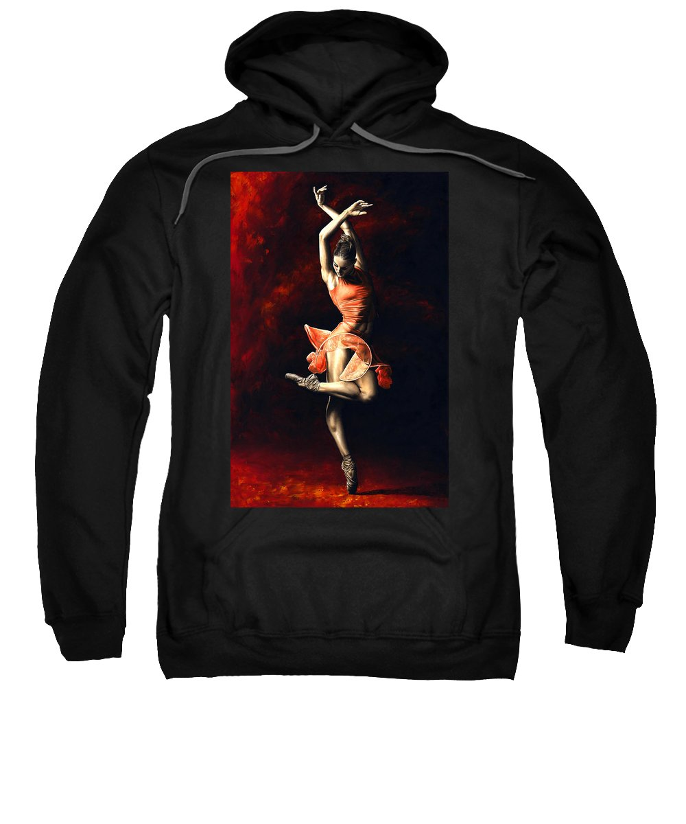 Dancer Sweatshirt featuring the painting The Passion Of Dance by Richard Young