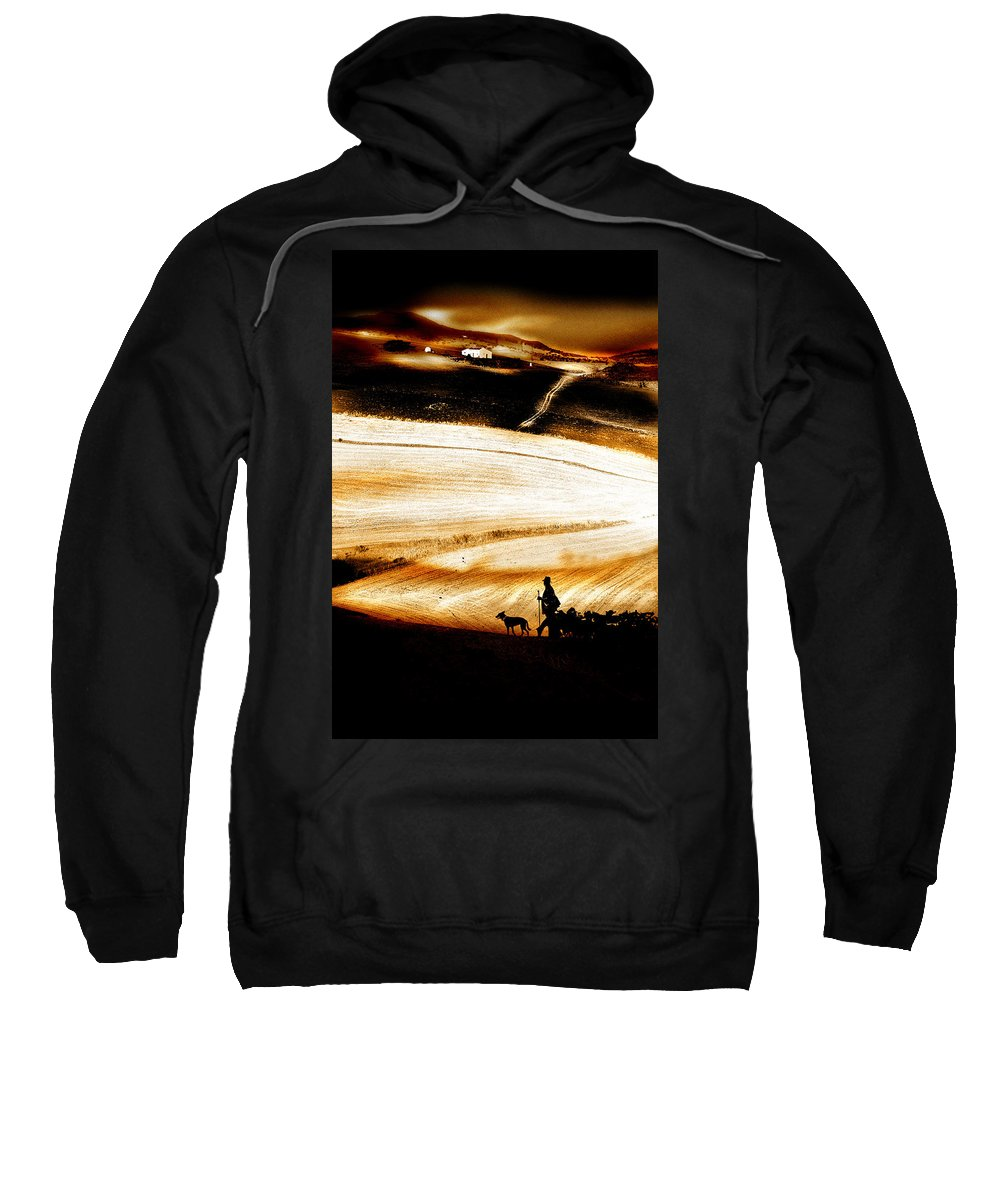 Landscape Sweatshirt featuring the photograph The Path Home by Mal Bray