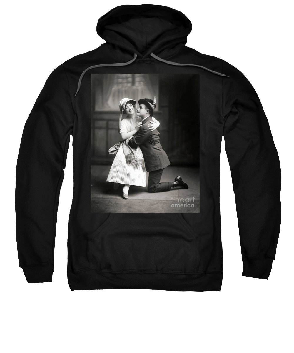 1915 Sweatshirt featuring the photograph The Peasant Girl, 1915 by Granger
