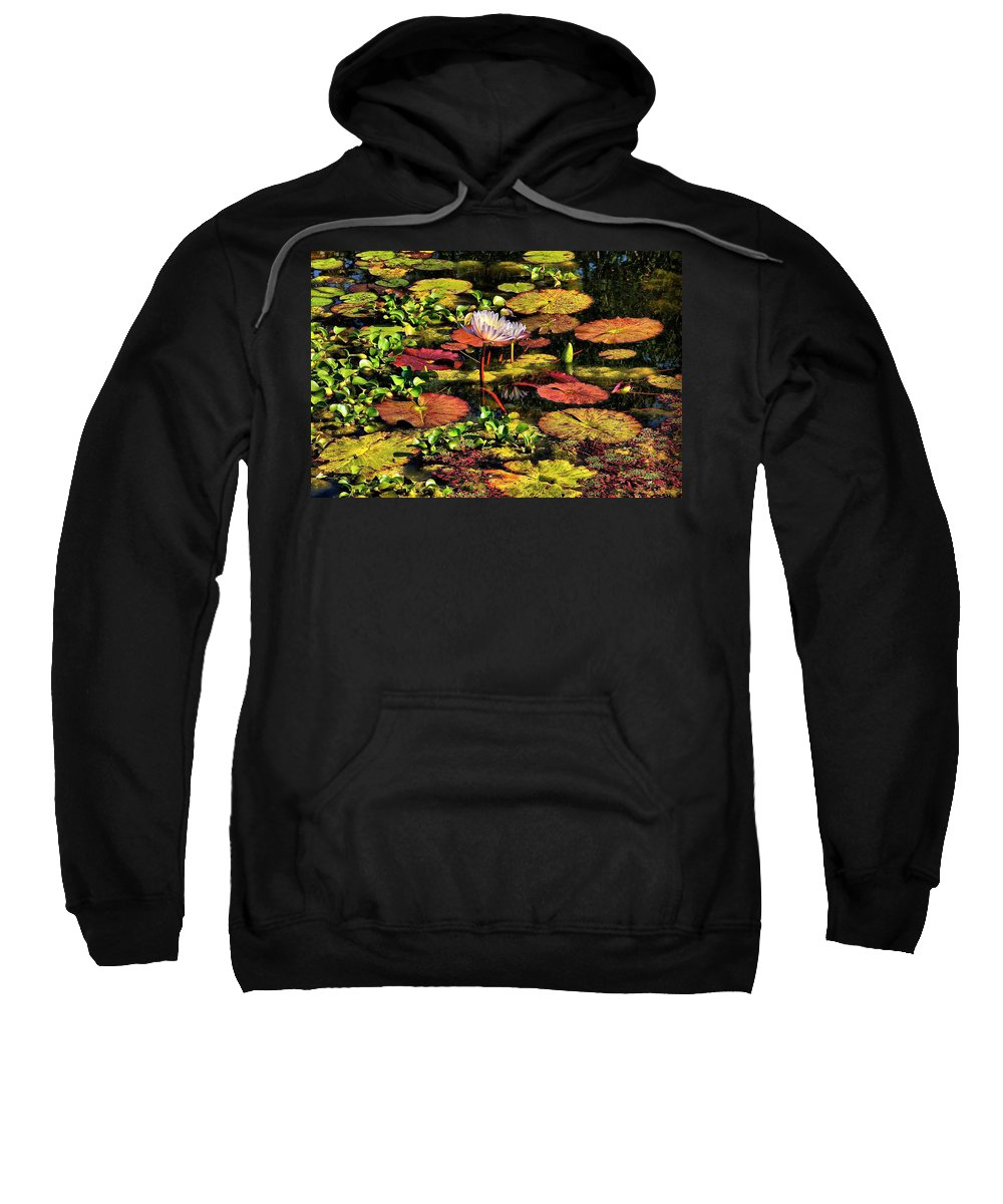Pseudo-hdr Sweatshirt featuring the photograph The Pond by Lyle Hatch