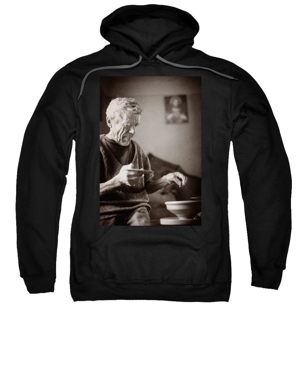 Ukraine Sweatshirt featuring the photograph The Potter Of Haweryvschyna by Yuri Lev
