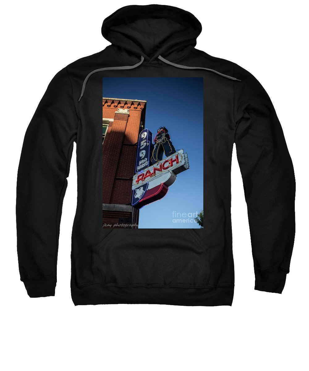 Radio Sweatshirt featuring the photograph The Ranch by Jennifer Seilhant