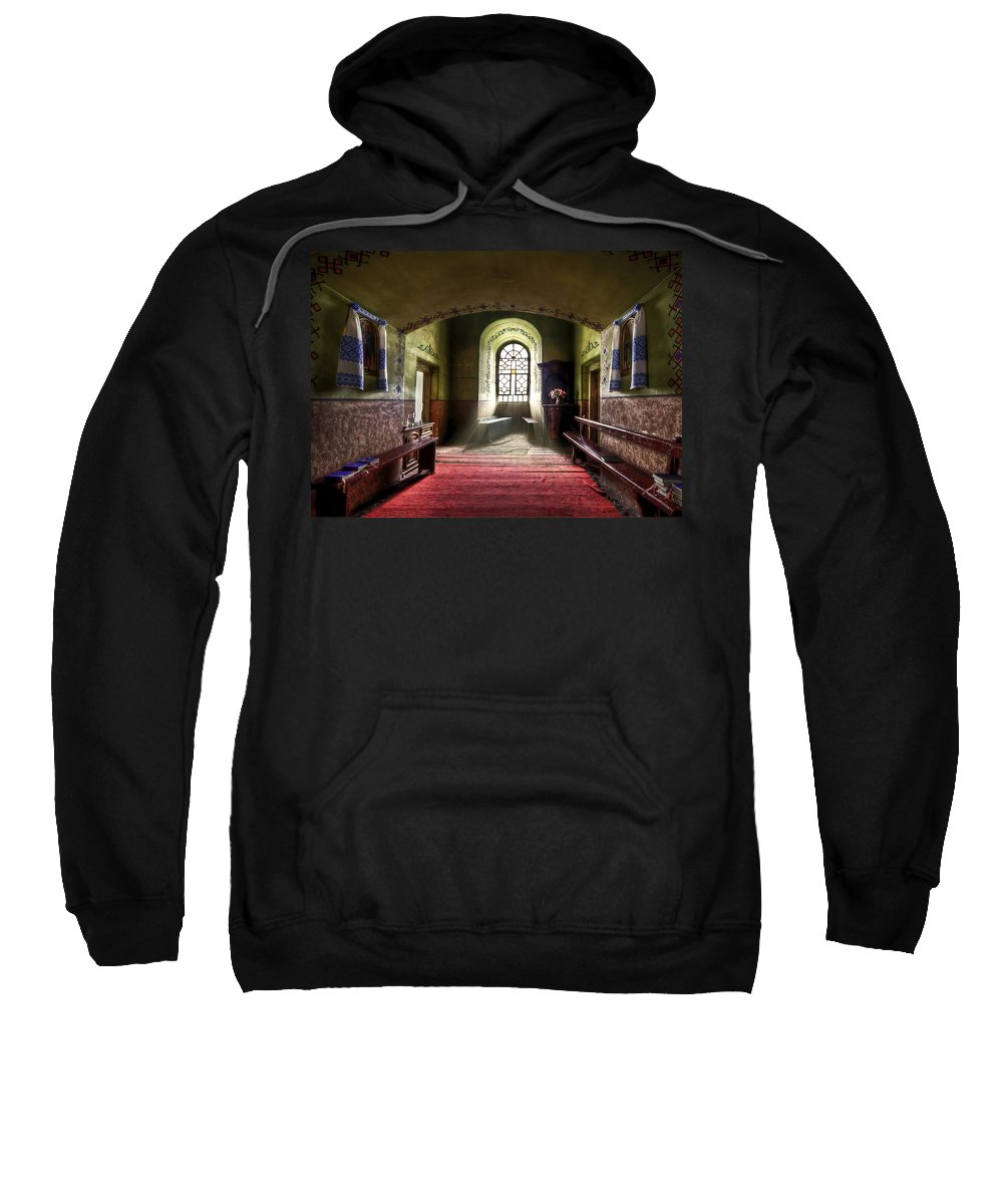 Church Sweatshirt featuring the photograph The Reading Room by Evelina Kremsdorf