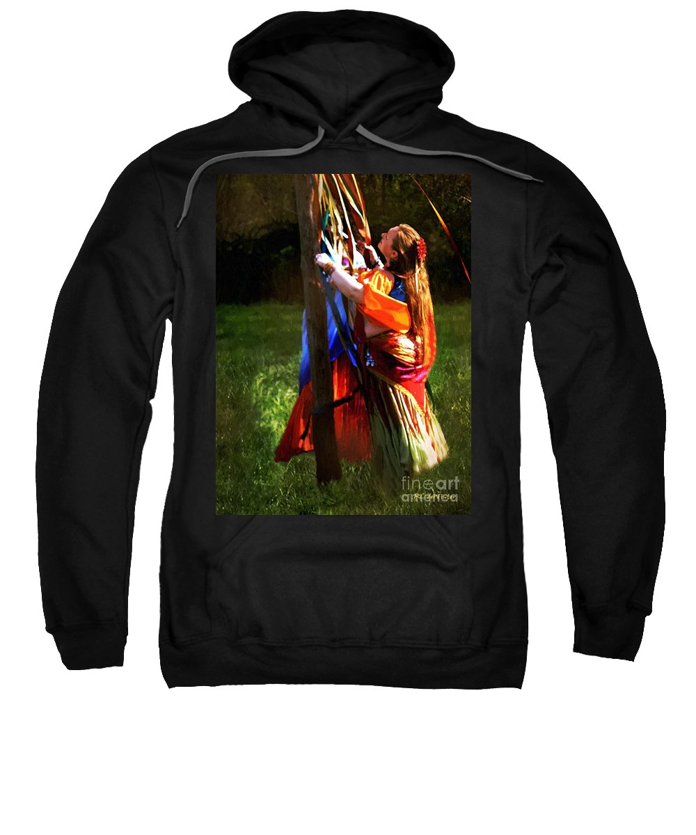 Colorful Sweatshirt featuring the painting The Readying Ritual by RC DeWinter