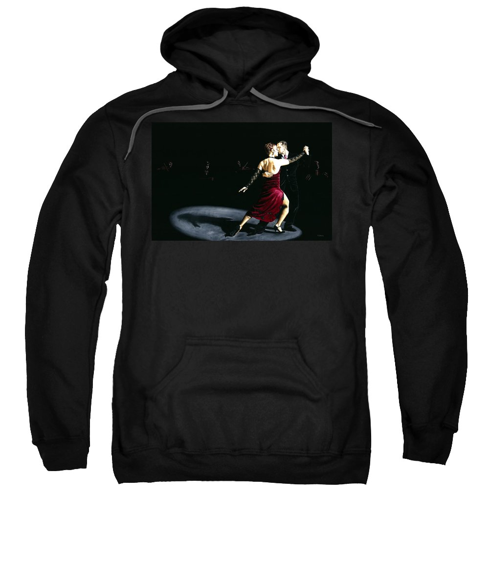 Tango Sweatshirt featuring the painting The Rhythm Of Tango by Richard Young