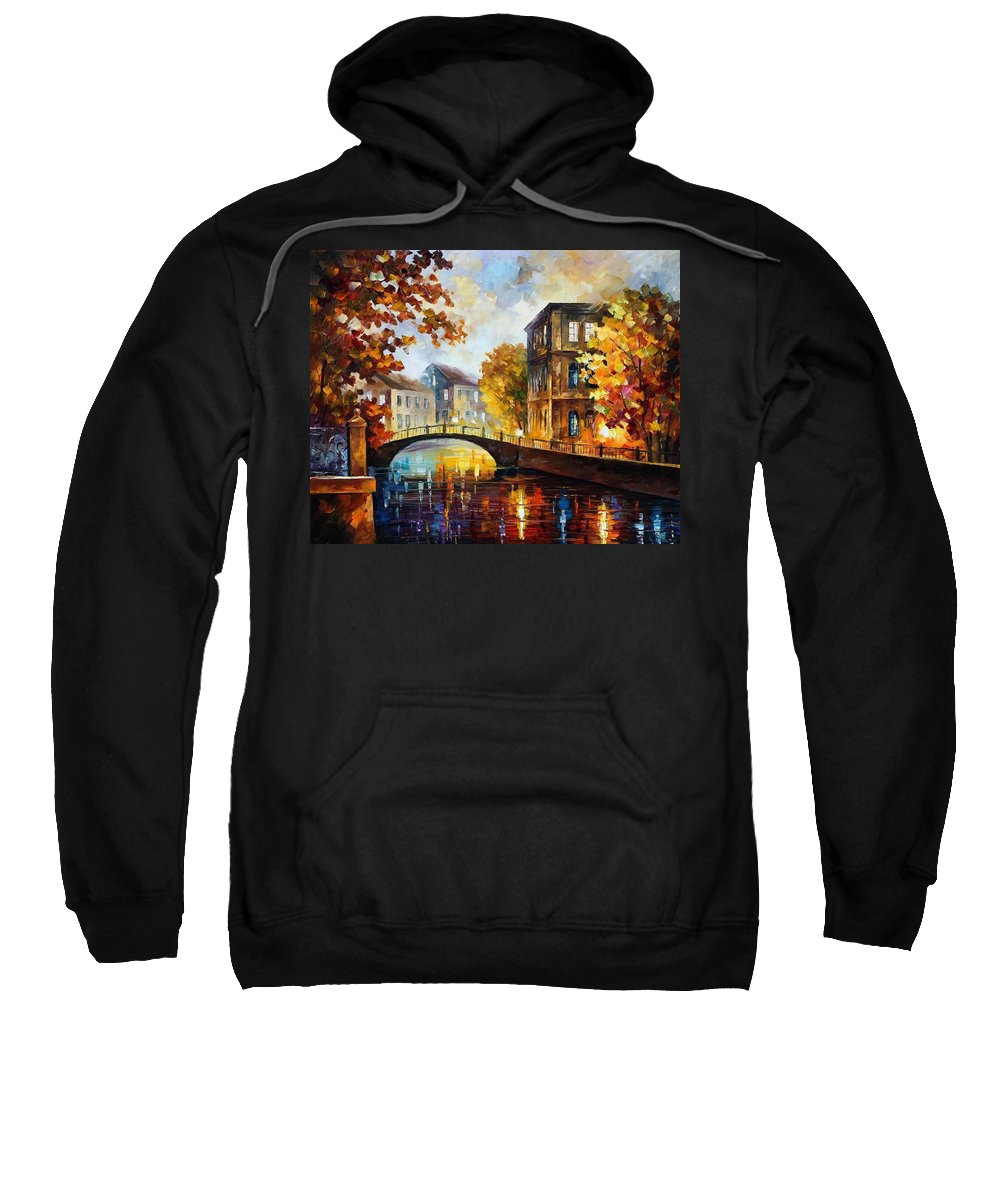 Afremov Sweatshirt featuring the painting The River Of Memories by Leonid Afremov