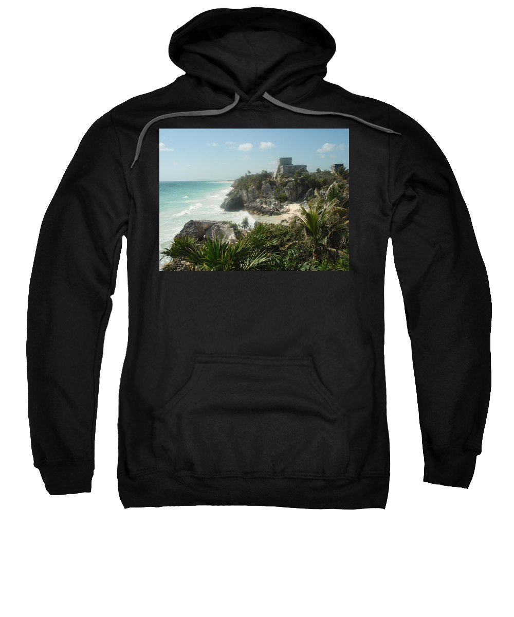Architecture Sweatshirt featuring the photograph The Ruins Of Tulum by Dennis Boyd