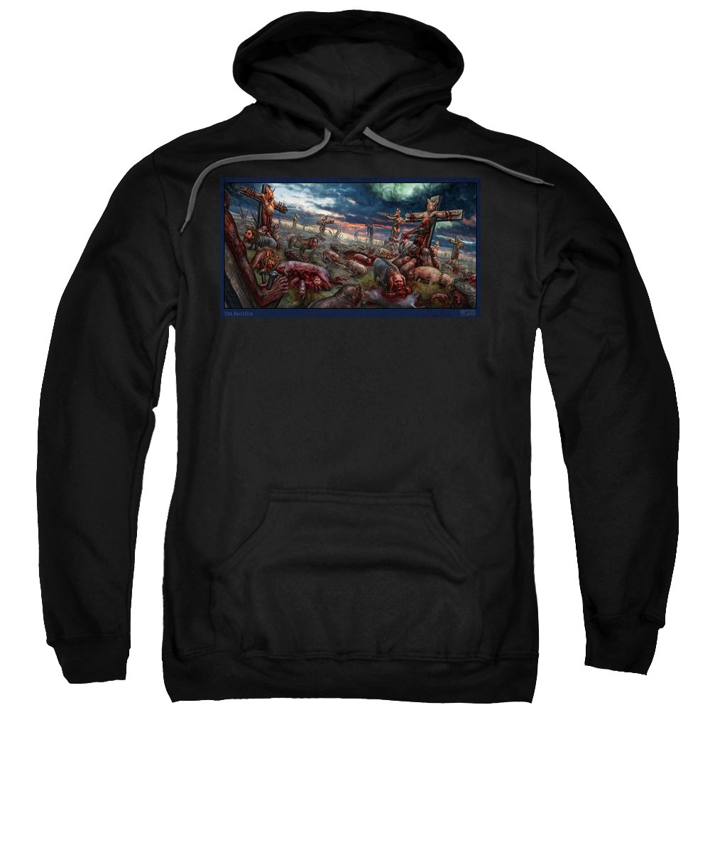 Tony Koehl Sweatshirt featuring the digital art The Sacrifice by Tony Koehl