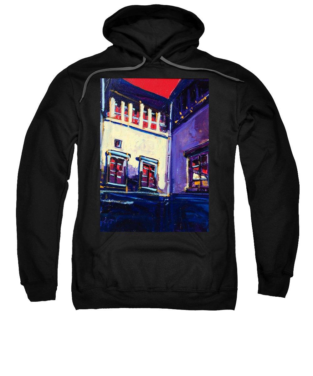 School Sweatshirt featuring the painting The School by Kurt Hausmann