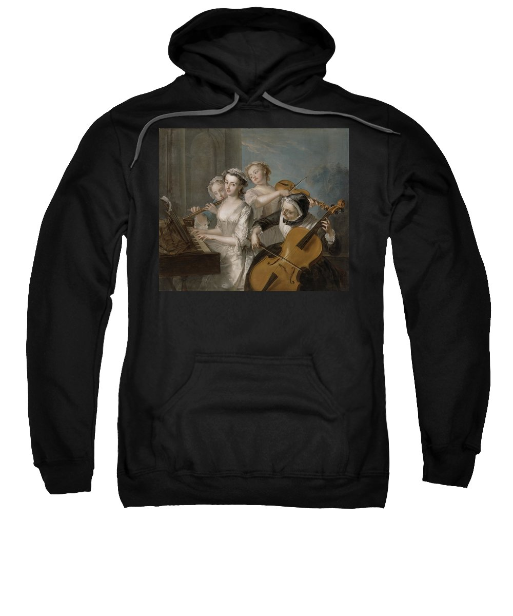 Sense Sweatshirt featuring the painting The Sense Of Hearing by Philippe Mercier