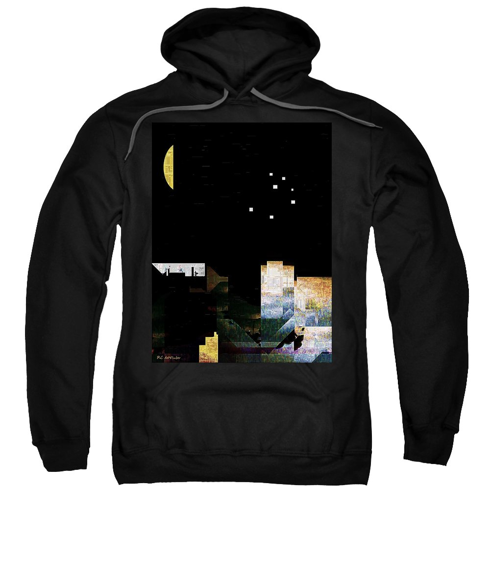 City Sweatshirt featuring the painting The Seven Sisters by RC DeWinter