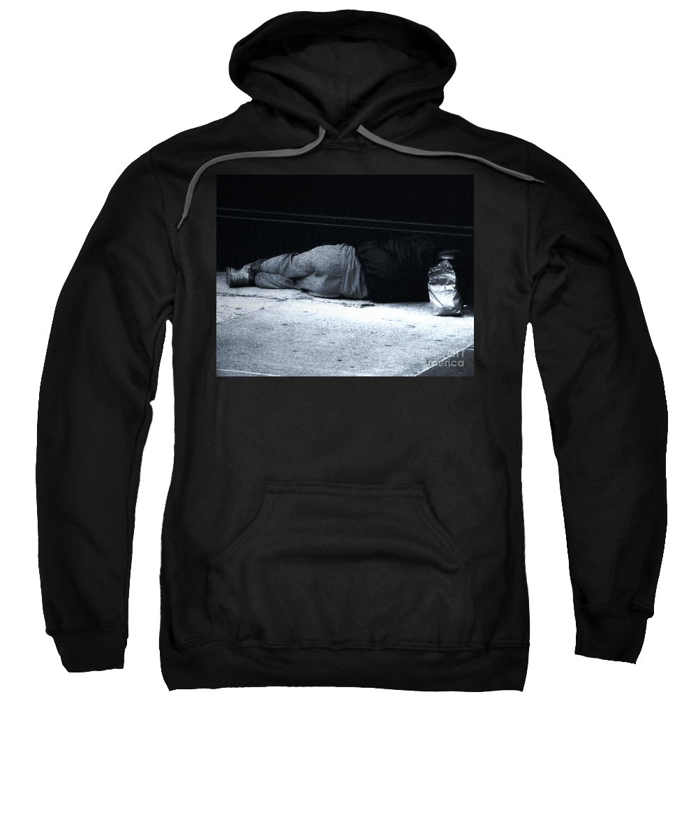 Homeless Sweatshirt featuring the photograph The Sidewalks Of New York by RC deWinter