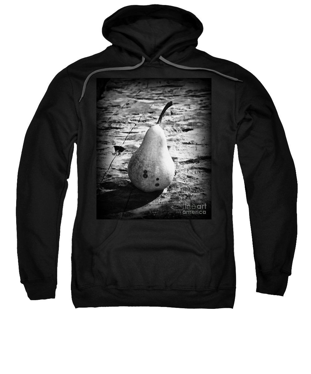 Pear Sweatshirt featuring the photograph The Simple Pear by Clare Bevan