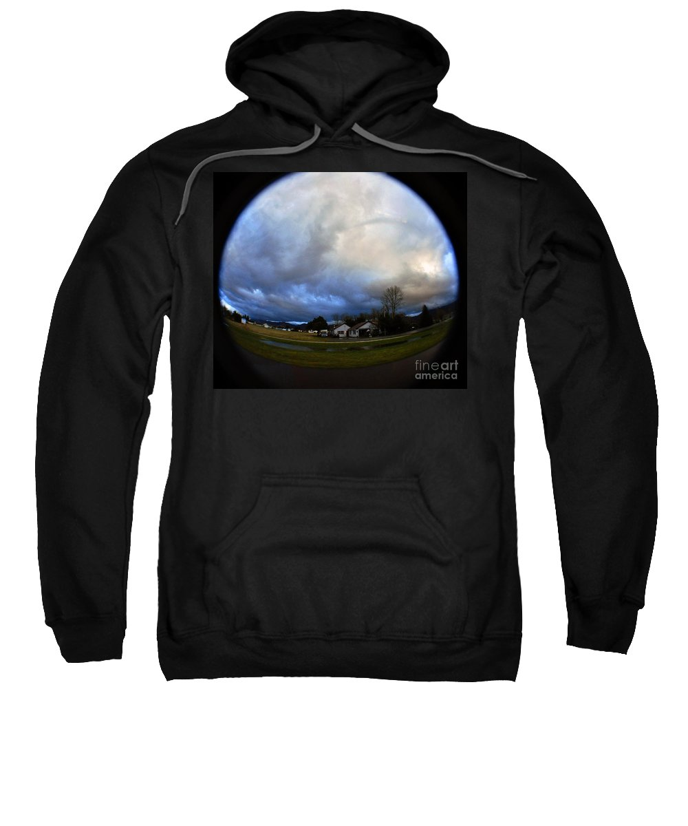 Clay Sweatshirt featuring the photograph The Sky Is Falling by Clayton Bruster