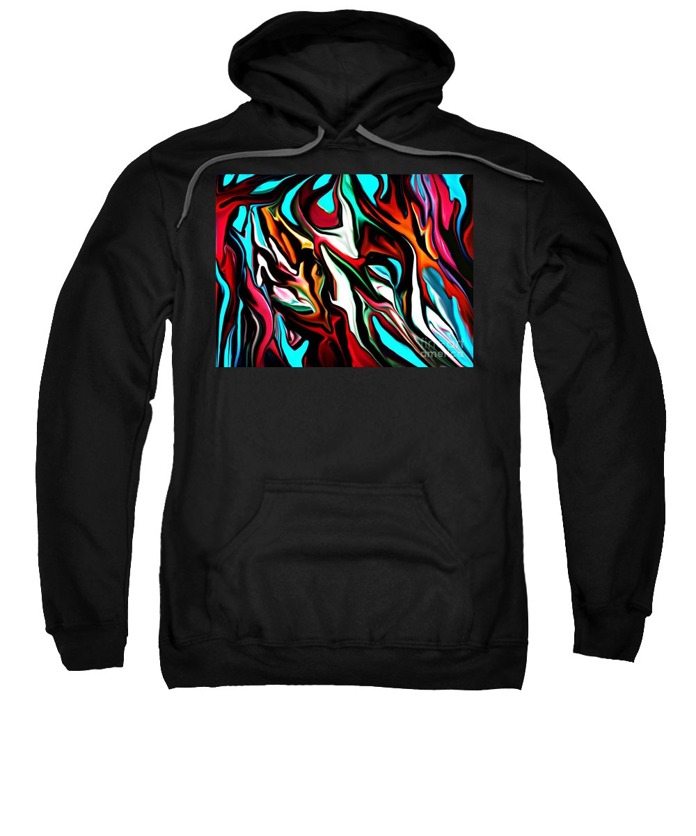 Abstract Sweatshirt featuring the digital art The Smearing Of The Paint 7-02-09 by David Lane