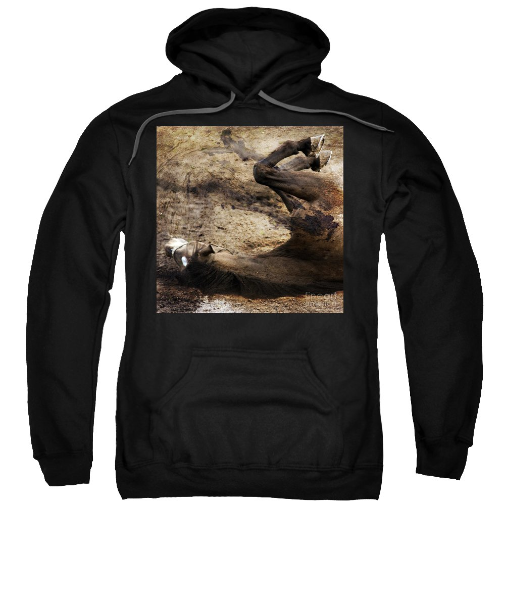 Horse Sweatshirt featuring the photograph The Smell Of The Soil by Angel Ciesniarska