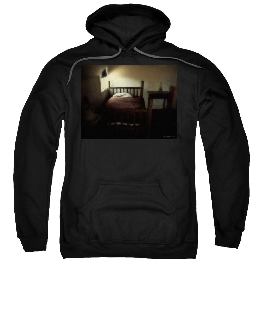 19th Century Sweatshirt featuring the painting The Spare Room by RC DeWinter