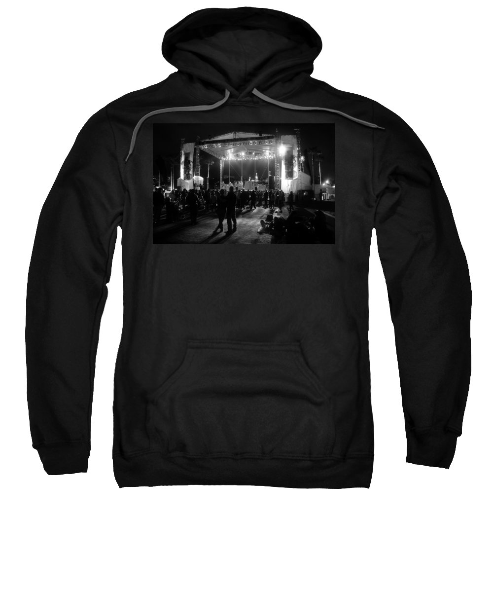 Music Sweatshirt featuring the photograph The Stage by David Lee Thompson