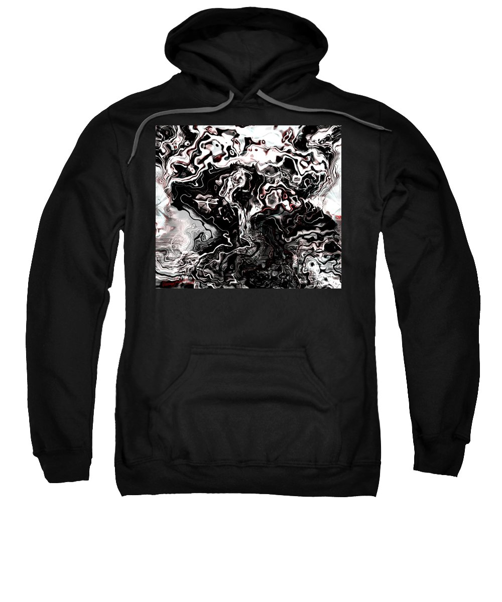 Storm Wind Clouds Nature Wind Sweatshirt featuring the digital art The Storm by Veronica Jackson