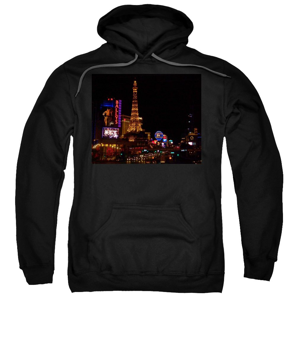 Vegas Sweatshirt featuring the photograph The Strip At Night 1 by Anita Burgermeister