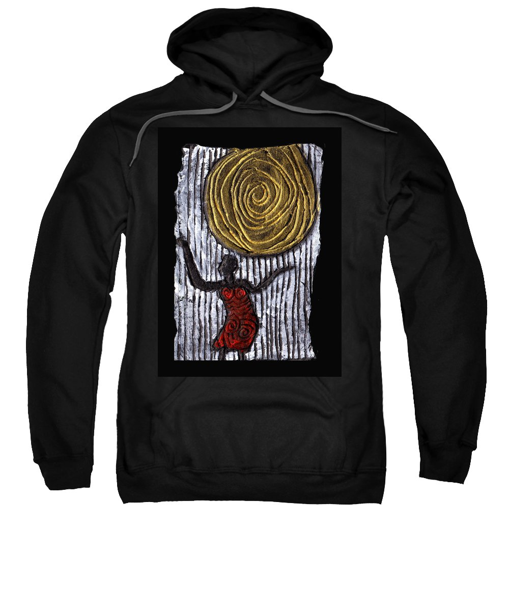 Woman Sweatshirt featuring the painting The Sun And I by Wayne Potrafka