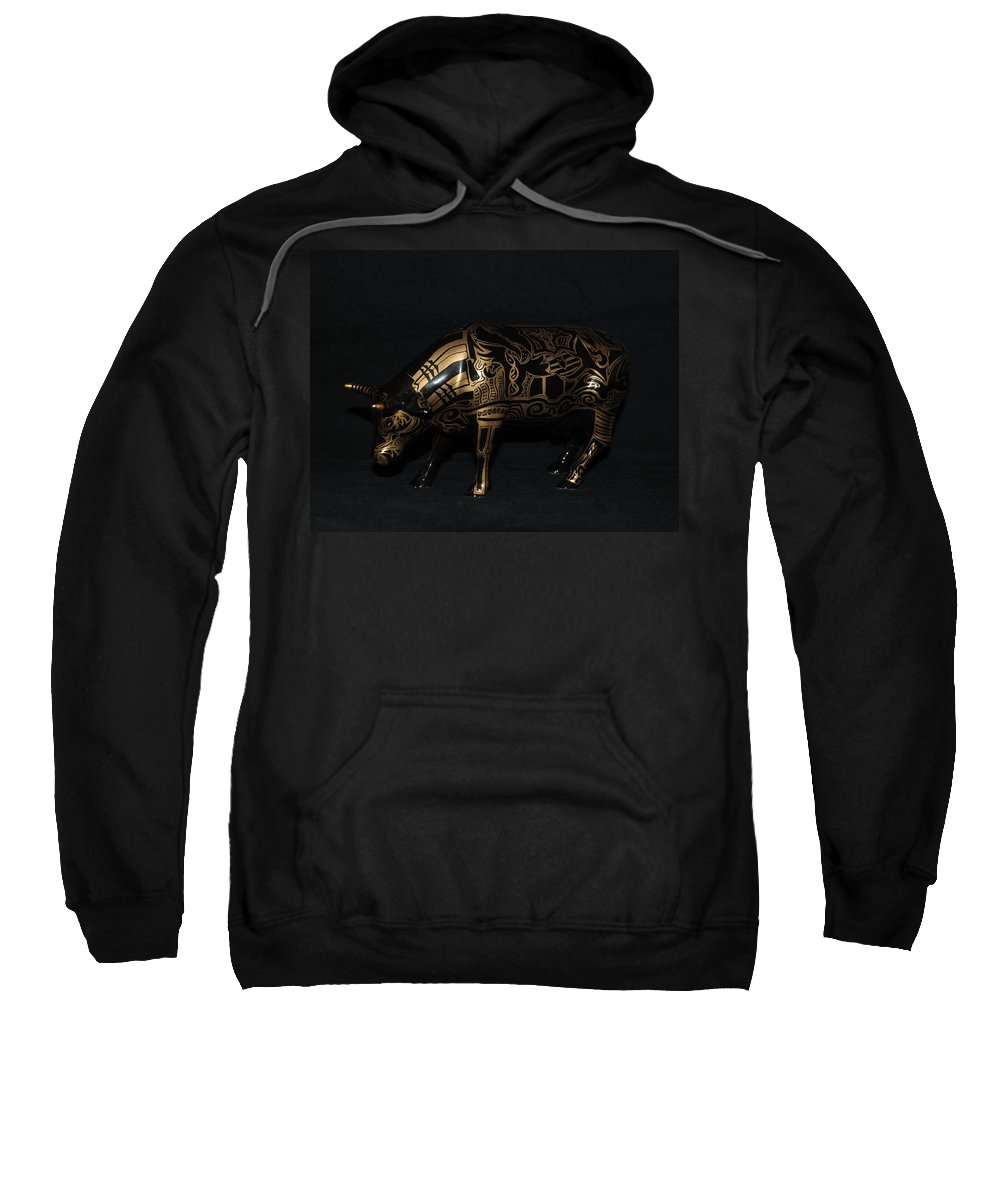 Tattoo Sweatshirt featuring the photograph The Tattooed Cow by Rob Hans