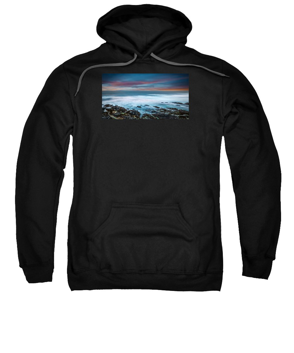 2015 Sweatshirt featuring the photograph The Tempestuous Sea by Andrew Proudlove