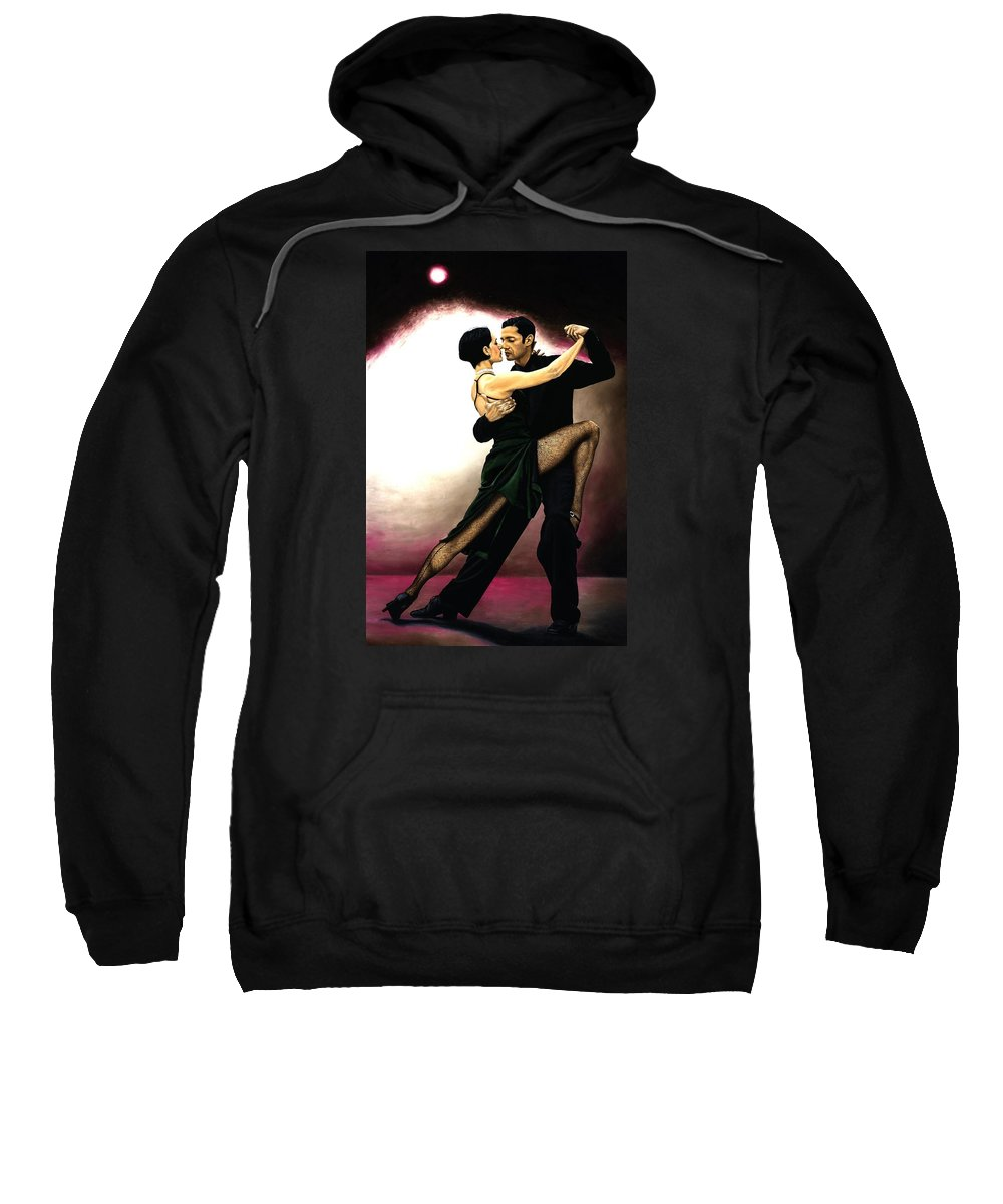 Tango Sweatshirt featuring the painting The Temptation Of Tango by Richard Young